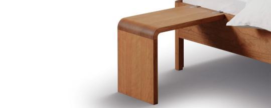 Einhänge-Nachttisch LOOP für Bettseitendicke 2,5 bis 4 cm