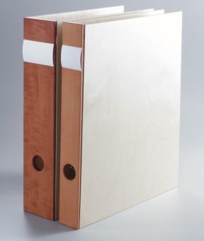 Aktenordner aus Holz, 40 mm breit