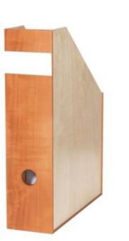 Aktenordner-Set (40+68+80 mm) aus Holz