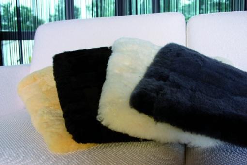 Sitzkissen aus Lammfell