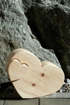 Zirben Herz in Herz