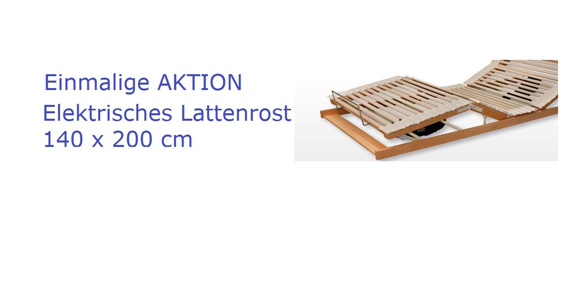 Elektrisches Lattenrost 140 x 200 AKTION